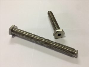 No.64-Hollow Titanium Fastener With Through Hole Titanium Alloy 6Al4V Dish Head Allen Key