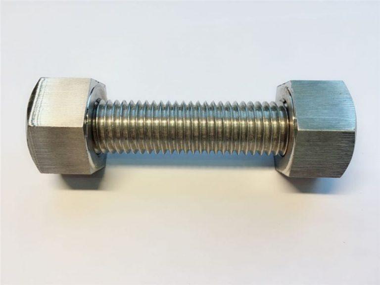 スタッドボルトc / w 2本の重い六角ボルト